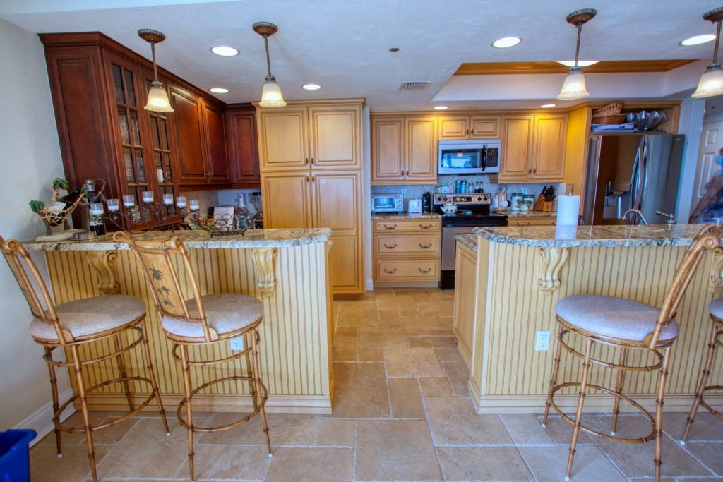 Unit #501 kitchen with countertops